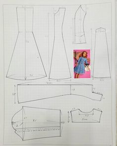 Sewing Barbie Clothes, Barbie Clothes Patterns, Doll Dress Patterns, Crochet Doll Clothes, Girl Doll Clothes, Barbie Mode, Barbie Dolls, Barbie Celebrity, Barbie Knitting Patterns