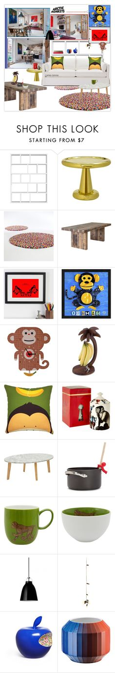 """""""Playful Monkey"""" by rainie-minnie ❤ liked on Polyvore featuring interior, interiors, interior design, home, home decor, interior decorating, TemaHome, Tom Dixon, Dot & Bo and Wall Art"""