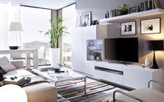 salón minimalista pero con capacidad