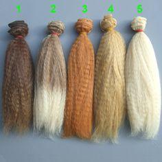 15 cm hecho a mano muñeca del pelo/SD ad 1/3 1/4 1/6 bjd muñeca DIY pelo para Blyth bjd muñeca pelucas