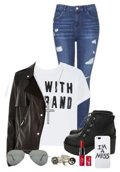 """Wanna be Bad Girl"" by nina4ever14 ❤ liked on Polyvore featuring moda, Topshop, David Yurman, River Island, Ray-Ban y LAUREN MOSHI"