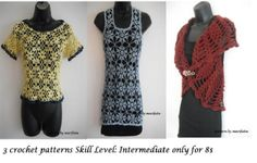 3 crochet patterns for  Intermediate  pattern on Craftsy.com