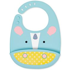 Skip Hop Zoo Fold & Go Silicone Bib, Multi Unicorn - Catch mealtime messes in our soft, Zoo silicone bib. Most baby and toddler bibs get quickly stained and contribute to your laundry pile. Our Zoo Fold & Go Silicone Bib easily wipes down for quick cleanup. You can even pop it in the dishwasher. With a deep pocket to catch crumbs, it's made of food...