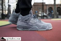 3e1c40640f8 When the Air Jordan IV first released Nike Air was placed on the heel. For  recent retro releases, the Jumpman has become the standard. For KAWS is ad