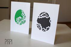 Easter cards - cut-out egg. || Kartki Wielkanocne - ażurowe jajo.