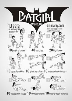 Batgirl Workout--lots of fun visual workout posters. Just for something different.