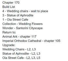 Chapter 170 Build List!