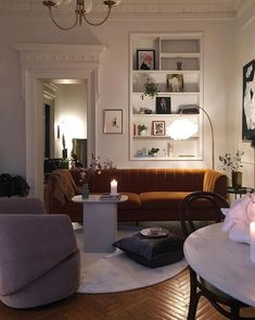 mid century modern living room decor with built in shelves and wall moulding - Home and Garden Decoration Living Room Storage, Living Room Decor, Living Room Interior, Home Living, Living Spaces, Small Living, Dog Spaces, Luxury Living, Small Spaces