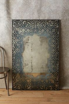 Anthropologie Dissolved Lace Mirror. So original and kinda spooky!