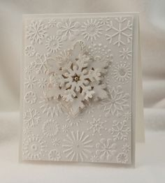 My stamping group was over last week for a class. I went CAS once again, with a Christmas Gift Tag and Snowflake card in preparation for the...
