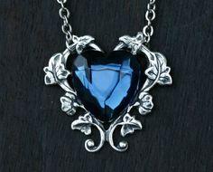 Blue Heart Necklace  London Blue Topaz by robinhoodcouture on Etsy