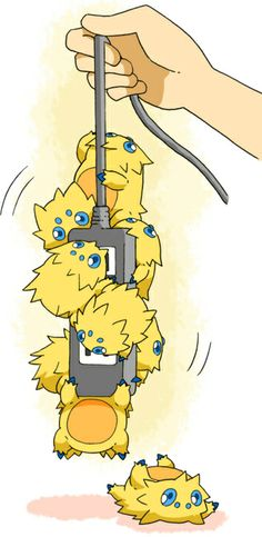 Joltik really loves Electrical Wires and Outlets