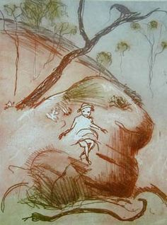 Arthur Boyd - Girl with Snake - Falls Gallery