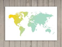 Gigantic Map of World Poster Print 394 in x 275 in by Signarama