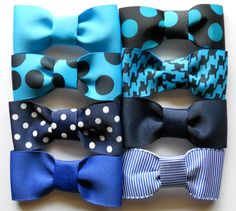 Clipon Bow Ties  03T  Hot Stuff Collection  Pick 4 by ModishPodish