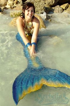 Merbella Studios Inc. Mermaid Arella Tail, top and accessories by Merbella Studios Photo by @tyler sutter ~Merbella for a day~