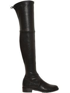 STUART WEITZMAN 30Mm Lowland Stretch Nappa Boots, Black. #stuartweitzman #shoes #boots