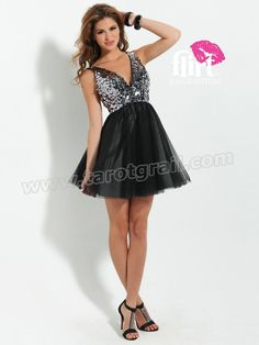 Sexy and fun combine in this short sequin dress with Natural Waistline