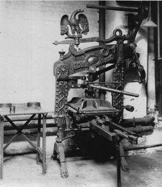 Máquina de impressão (prensa) metálica, 1800