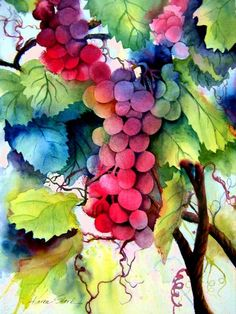 Grapes Painting by Karen Stark - Grapes Fine Art Prints and Posters for Sale