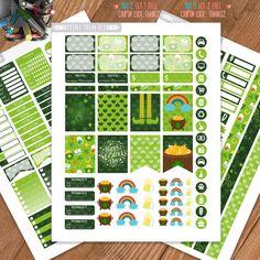 St Patric Day Planner Stickers Printable, Erin Condren Sticker, Monthly/Weekly Kit, Erin Condren Life Planner, Planner Kit,Instant download by PrintThemAllStudio on Etsy