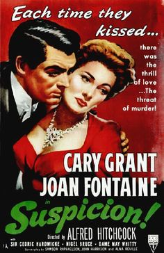 High quality reproduction movie poster for Suspicion starring Cary Grant, Joan Fontaine and Cedric Hardwicke from 1941. 11 x 17 high quality reproduction on card stock.