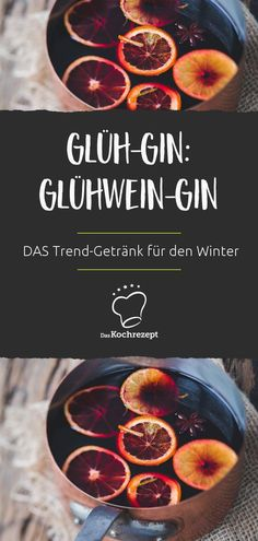 Glüh-Gin: der Glühwein-Gin Glow gin is THE trend drink for winter. Mulled wine, just with our favorite spirit: gin. What should not be missing in the Christmas hot drink … Glüh-Gin: der Glühwein-Gin Party Drinks, Cocktail Drinks, Cocktail Recipes, Winter Drink, Cheers, Le Gin, Gin Recipes, Mulled Wine, Christmas Drinks