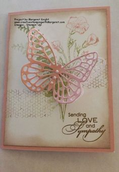 Sympathy Card using Stampin' Up! Butterfly Basics Stamp Set and Butterflies Thinlits Die