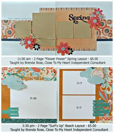BOTTOM layout ONLY..... by Brenda Rose using CTMH Surf's Up paper