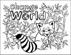 girl scout cookie coloring page red panda use to decorate sales clipboard or just for fun