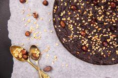 Crunchy Chocolate Hazelnut Cake | Berries and Spice