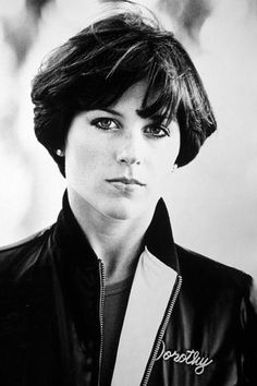 Dorothy Hamil Haircut - i loved this style.  She was such a sweetheart - this pic is kinda badass.