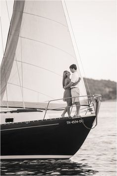 Sailboat engagement pictures in Knoxville TN - click to view more! #wedding #engagement #sailboat