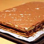 Medové rezy • recept • bonvivani.sk Pancakes, Pie, Candy, Chocolate, Breakfast, Sweet, Desserts, Torte, Morning Coffee