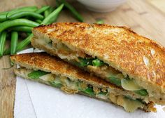 """Green Bean Casserole"" Grilled Cheese"