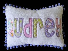 Custom Personalized Chenille or Minky Pillow by GirlieBirdBoutique, $50.00