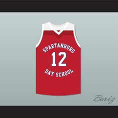 "Zion Williamson 12 Spartanburg Day School Griffins Red Basketball Jersey 1. STITCH SEWN GRAPHICS  CUSTOM BACK NAME CUSTOM BACK NUMBER ALL SIZES AVAILABLE SHIPPING TIME 3-5 WEEKS WITH ONLINE TRACKING NUMBER Be sure to compare your measurements with a jersey that already fits you. Please consider ordering a larger size, if you prefer a loose fit. HOW TO CALCULATE CHEST SIZE: Width of your Chest plus Width of your Back plus 4 to 6 inches to account for space for a loose fit. Example: 18"" wide…"