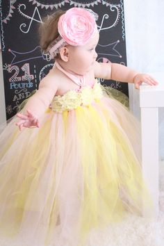 Gorgeous Beautiful Pink Lemonade Strawberry Lemonade Baby Girl Tutu Dress for 1st Birthday 6-12 months old