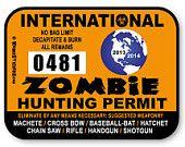 2013 United States Zombie Hunting Permit Vinyl Sticker via Etsy.