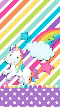 Rainbow unicorn wallpaper