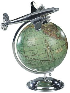 Shop Authentic Models - On Top Of The World at Peter's of Kensington. View our range of Authentic Models online. Why in the world would you shop anywhere else for Authentic Models? Desk Globe, Map Globe, Globe Art, Deco Aviation, Aviation Art, Art Nouveau, Globe Decor, World Globes, Crafts
