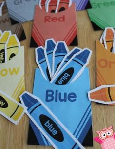 Color sorting and counting activities with this crayon color matching activity for toddler busy bags, preschool and pre-k Color Activities For Toddlers, Preschool Colors, Teaching Colors, Sorting Activities, Preschool Learning Activities, Preschool Classroom, Classroom Activities, Preschool Activities, Kids Learning