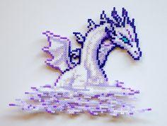 Mist Dragon Final Fantasy IV perler beads by PressBeadToStart