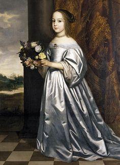 Gerard van Honthorst, Portrait of Henrietta Francisca, princess of Hohenzollern-Hechingen, 1649 - Het Markiezenhof Bergen op Zoom