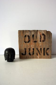 primitive wood sign  old junk mighty finds by mightyfinds on Etsy, $55.00