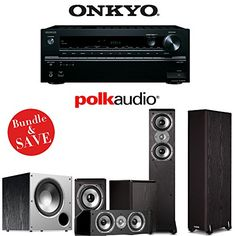 Onkyo TXNR646 72Channel Network AV Home Theater Receiver  A Polk Audio TSi Series 51 Home Theater Speaker System 2TSi300 2TSi100 1CS10  1PSW108 ** Click image for more details.Note:It is affiliate link to Amazon. #lasvega