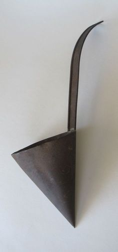 """Primitive Hand Made Tin Cone Shaped Dipper Ladle 14.5"""" in Length"""