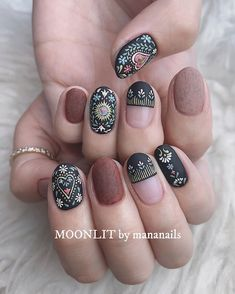 cute nail designs for every nail length & season 11 Perfect Nails, Gorgeous Nails, Pretty Nails, Hippie Nails, Luv Nails, Nail Length, Nail Art, Cute Nail Designs, Stylish Nails
