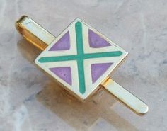 Deco cross Paris vintage tie clip -vintage jewellery antique jewellery Jewels & Finery UK