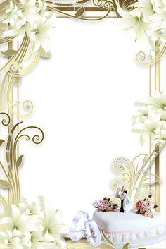 Soft wedding photo png frame frames bordas pinterest - Marcos de plata para bodas ...